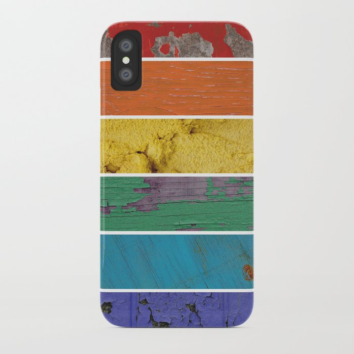 texture rainbow iPhone Case