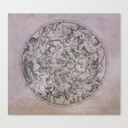 Vintage Constellations & Astrological Signs   Beetroot Paper Canvas Print