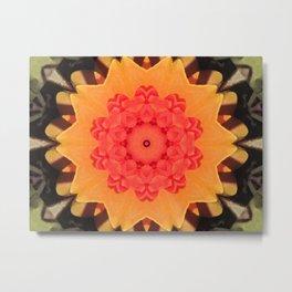 Kaleidoskop Flower Metal Print