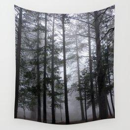 Mist Fog Ponderosa Pine Trees Wall Tapestry
