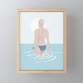 The girl from Budva Framed Mini Art Print