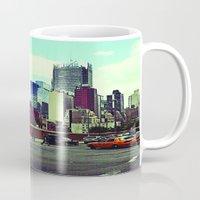 skyline Mugs featuring skyline by ALEXIS