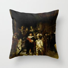 Rembrandt, The night watch, de nachtwacht Throw Pillow