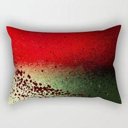 Black Flicks of Paint Rectangular Pillow