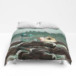 Behold the Mythical Merkitticorn - Mermaid Kitty Cat Unicorn Comforters