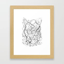 One hand in two pockets. Framed Art Print