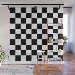 Black & White Checkered Pattern Wall Mural