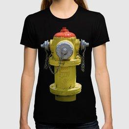 East Jordan Iron Works Orang and Yellow Fire Hydrant Fireplug T-shirt