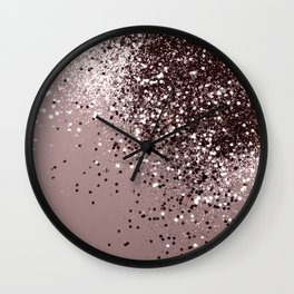 Sparkling Mauve Lady Glitter #1 #shiny #decor #art #society6 Wall Clock