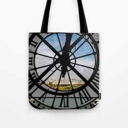 Clock at the Musee d'Orsay Tote Bag