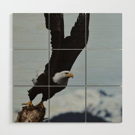 Alaskan Bald Eagle Wood Wall Art