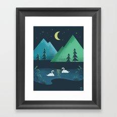 Moonlight Swim Framed Art Print