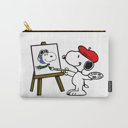 snoopy paint Carry-All Pouch