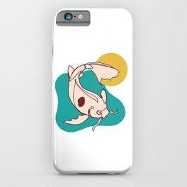 Clean, Calm, Minimalist Koi iPhone Case