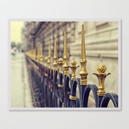 Color Theory, Gold Canvas Print