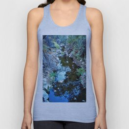 Stream Reflections at Dusk Unisex Tank Top