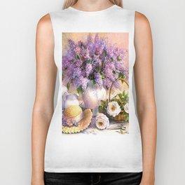 Paul de Longpre, Lilacs and Roses Biker Tank