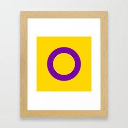 Intersex Flag v2 Framed Art Print