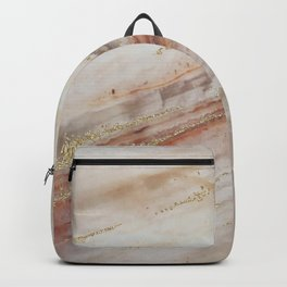 Brown Marbel with Gold Backpack