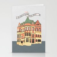 archer Stationery Cards featuring Archer Avenue by Nan Lawson