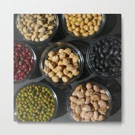 Peas and Beans Metal Print