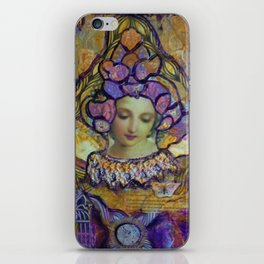 Lady Contemplating iPhone Skin