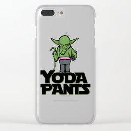 Yoda Pants Clear iPhone Case