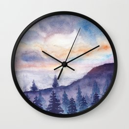 Into The Forest IX Wall Clock