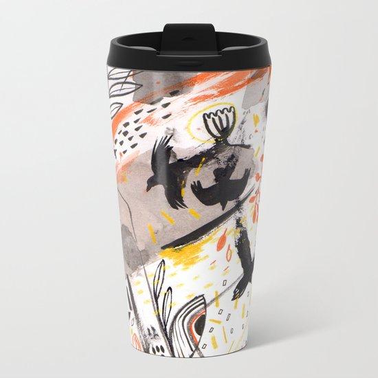Pattern 15 Metal Travel Mug