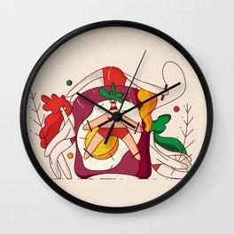 Sandwich Slave Wall Clock