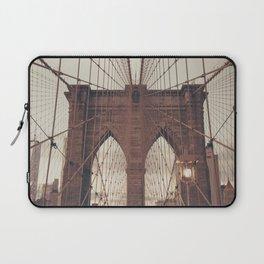 Moody Brooklyn Bridge Laptop Sleeve