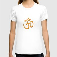 hindu T-shirts featuring Hindu om by gbcimages