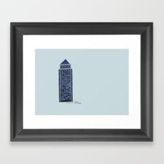 One Canada Square Framed Art Print