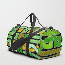 Green Celtic  Knot Square Duffle Bag
