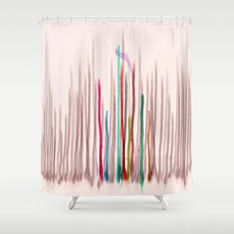 Rainbow Seeds Sprouts Circle of Life Flowers Shower Curtain