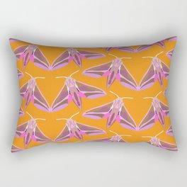 Elephant Hawk Moth - Orange Rectangular Pillow