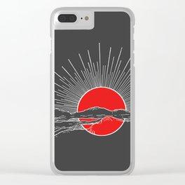 Ember Sun Clear iPhone Case
