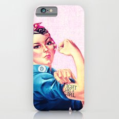 Fight Like A Girl Rosie The Riveter Girly Mod Pink Slim Case iPhone 6s