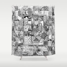 The Letter E Shower Curtain