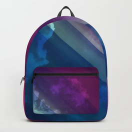 Vibrant Colorful Rays between Clouds 11 Backpack