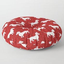 Merry Christmas Dachshunds Floor Pillow