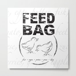 FEED BAG/Black & White Metal Print