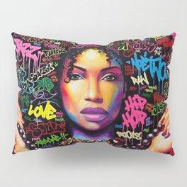 HAIR AFRO--STREET ART Pillow Sham