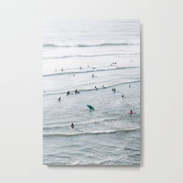 Let's Surf | Ocean in Ericeira, Portugal | Travel Photography | Metal Print