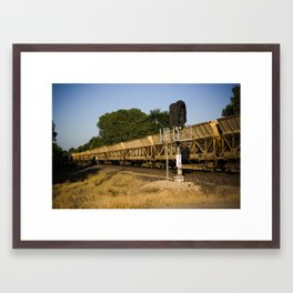 Golden Train Framed Art Print