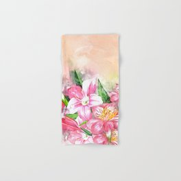 Holding Closely #floral #society6 #watercolor Hand & Bath Towel