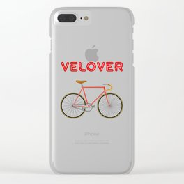 VeLover – Racer 2 – June 12th – 200th Birthday of the Bicycle Clear iPhone Case