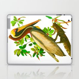 Brown Pelican Vintage Illustration Laptop & iPad Skin