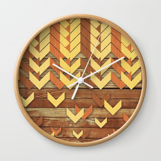 ZigZag Woody Wall Clock