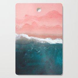 Turquoise Sea Pastel Beach II Cutting Board